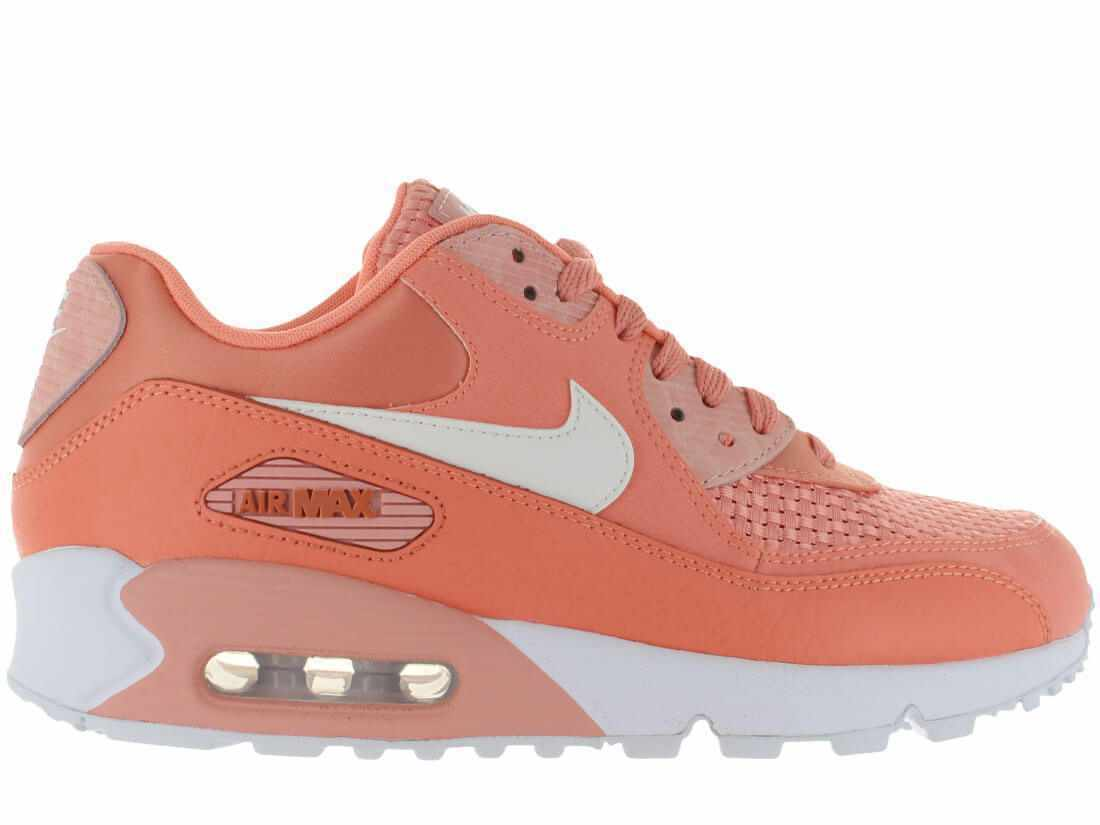 Nike WMNS Air Max 90 SE Sneaker - Size 9.5 (CRIMSON BLISS WHITE) 881105-604