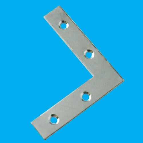 """50x 50 mm Soutien Fixation Réparation 2/"""" plat Coin Angle Droit Plaque Support Brace"""