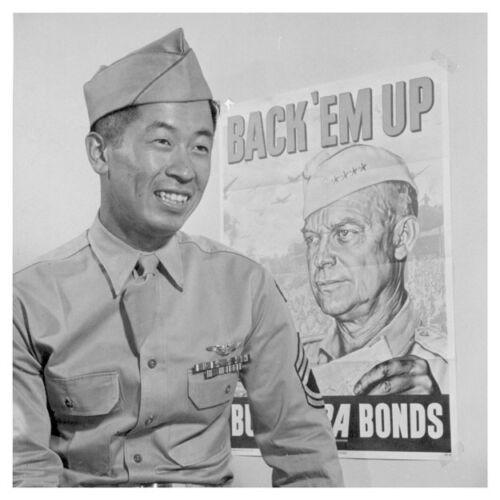 World War II Aviator Ben Kuroki Japanese American Silver Halide Photo