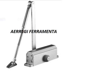 CHIUDIPORTA-AEREO-TIPO-MAB-FUNZIONE-CON-FERMO-2-VALVOLE-DI-REGOLAZIONE-ARGENTO