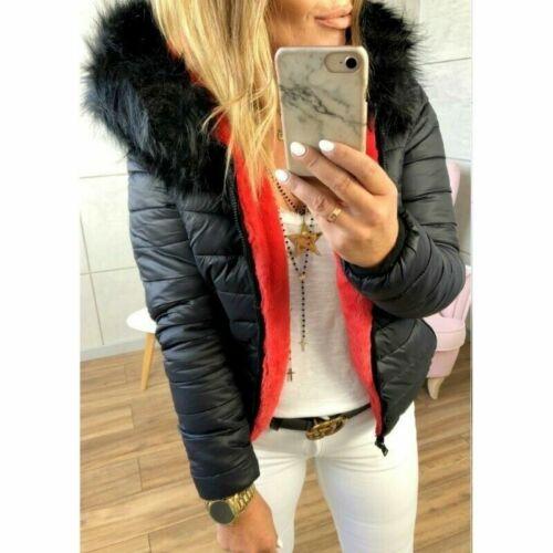 Winter Outerwear Parka Fashion Warm Hooded Women Zipper Jacket Coat Down Collar