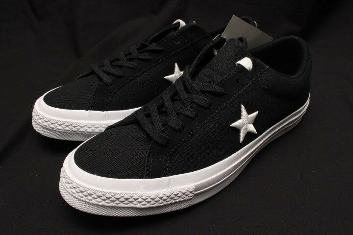 CONVERSE ONE STAR OX BLACK WHITE 160600C