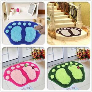 Absorbent Soft Velvet Large Footprint Bath Bathroom Floor Shower Mat Rug Nonslip