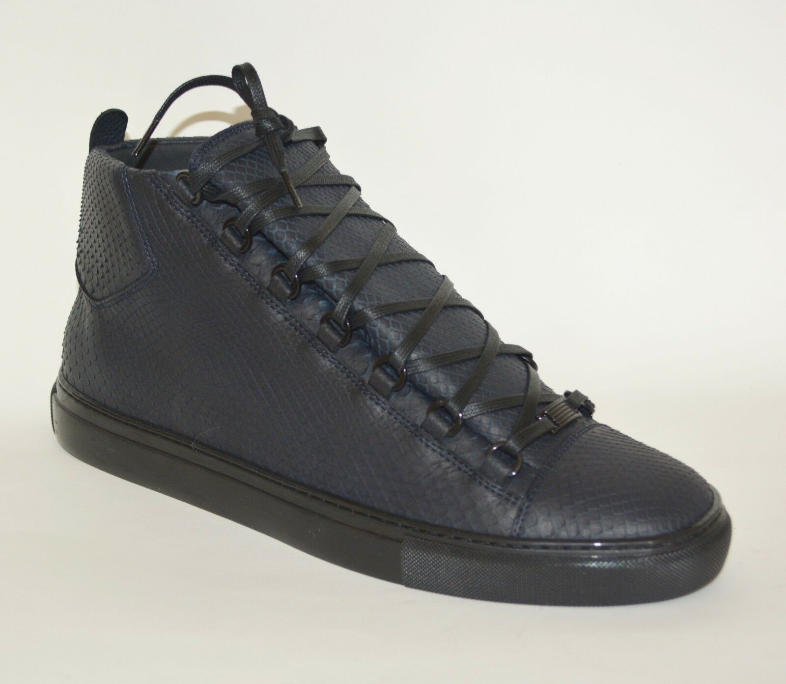 NEW BALENCIAGA HITOP PYTHON LEATHER SNEAKERS US 14 MENS
