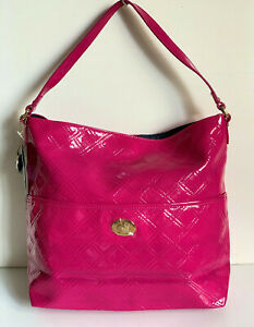 NEW-TOMMY-HILFIGER-FUCHSIA-PINK-QUILTED-BUCKET-HOBO-PURSE-SHOULDER-BAG-79-SALE