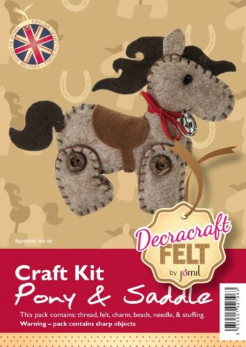 Create Your Own Felt Character Craft Kit Pony and Saddle