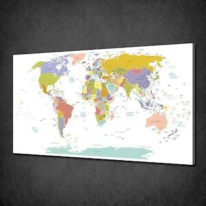 world map for office