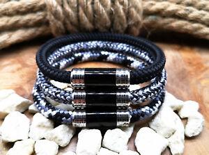 Segeltau-Armband-6mm-NEU-Surfer-Style-Magnetverschluss-Handmade-Herren-Frauen