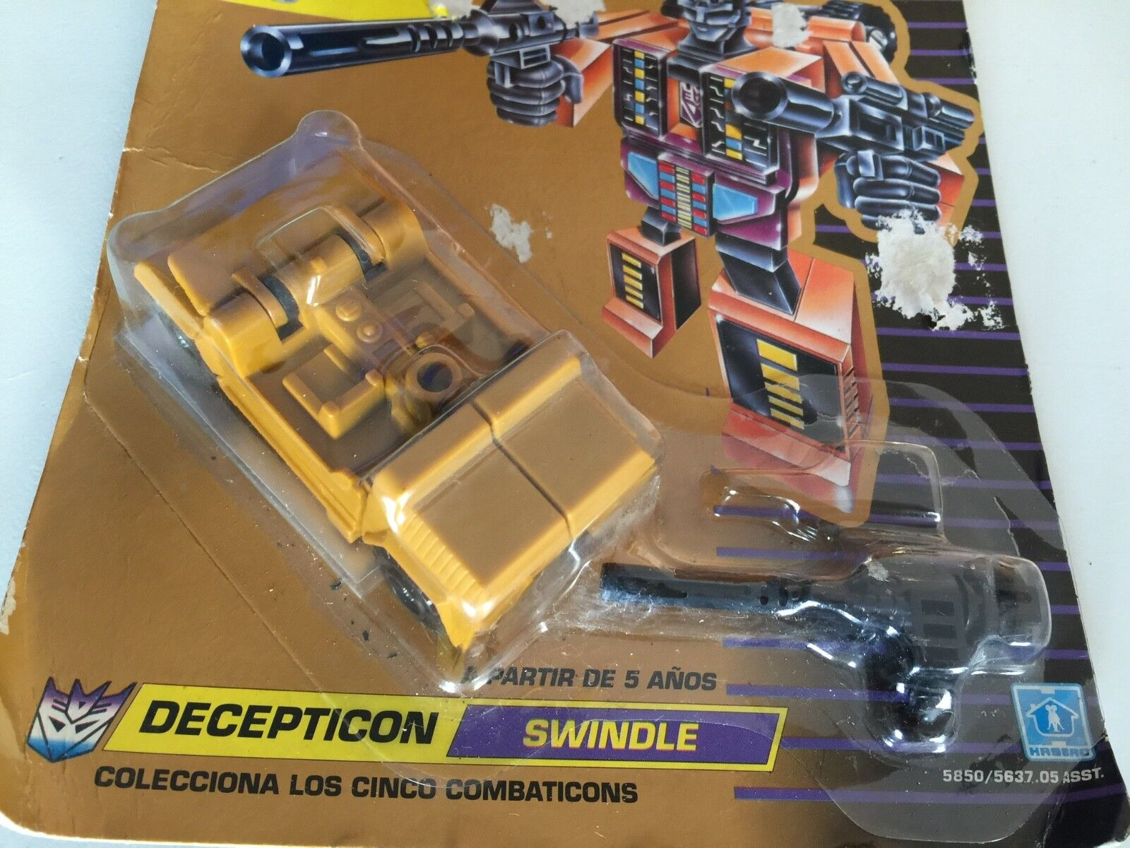 Transformers G1 1990 SWINDLE MOSC bruticus european MB spannish