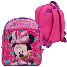 "NEW Disney Minnie Mouse Toddler Girls Kids Preschool 12"" Backpack Bag"