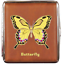 縮圖 6 - Cigarette Case 20 King Size Metal / Leather Look Braun/Rubber Band / 6 Models