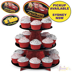 Image Is Loading DISNEY CARS 3 PARTY SUPPLIES WILTON CUPCAKE STAND