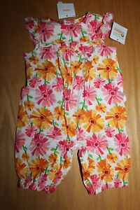 GYMBOREE Butterfly Catcher One Pc Romper Multi Color Size 12-18-24 mos 2T 5T NEW