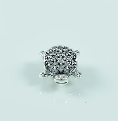Authentic Genuine Pandora Silver Sea Turtle Charm Bead 791538CZ