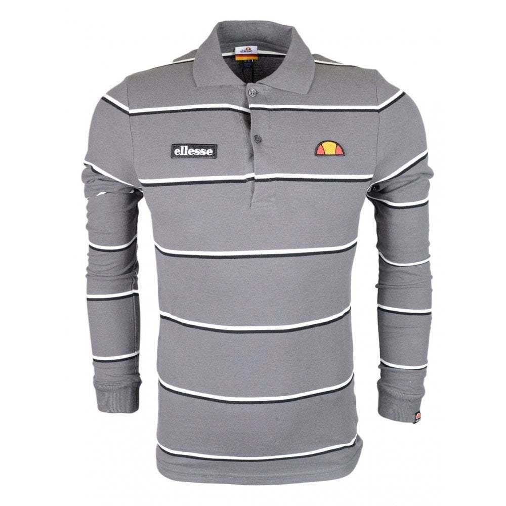 Ellesse Maffio Long Sleeve Grau Rugby Top