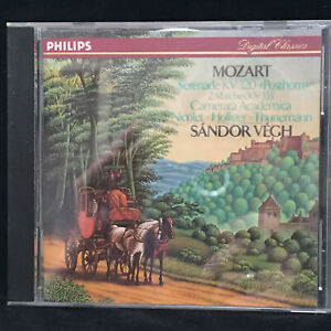 MOZART-Serenade-Posthorn-amp-Marches-SANDOR-VEGH-PHILIPS-CD-SOLID-SILVER-1989