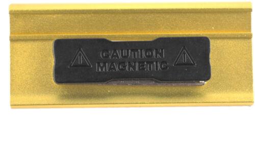 10 x  Namensschild eloxiertes Aluminium Metall 65x22 mm oder 70x32 mm Magnet