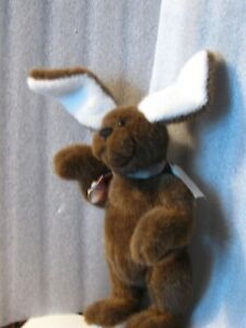 Rabbit-artist-OOAK-VINTAGE-Chocolate10-034-WARREN-German-plush-jointed-PRISTINE-NEW