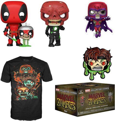 Marvel Zombies Collectors Corps Box 2 Pop Vinyls M T-shirt