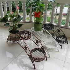 Metal Outdoor Indoor Pot Plant Stand Garden Decor Flower Rack Wrought Iron US
