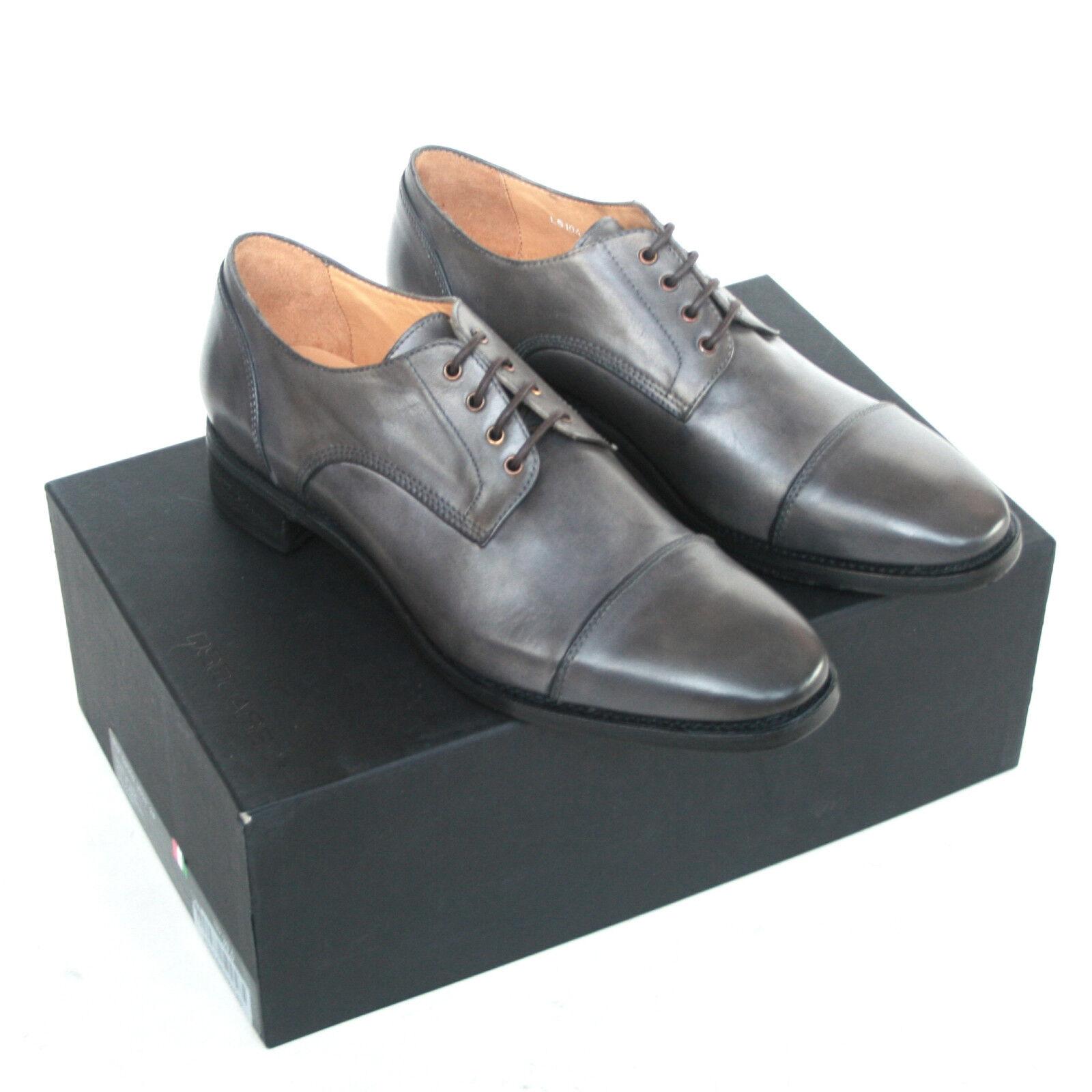 DSQUArouge 2  695 gris en cuir à lacets OXFORD DSQUArouge Chaussures 6.5 39.5 NEUF