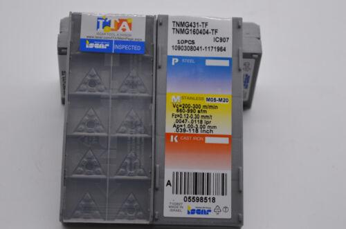 10Pcs TNMG160404-TF IC907 TNMG331-TF CNC Carbide Inserts