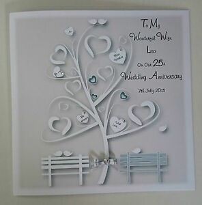 Image Is Loading Large Personalised On Our 25TH SILVER Wedding Anniversary