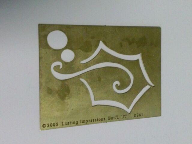 Lasting Impressions Brass Embossing Stencils Three Hats S857 NEW