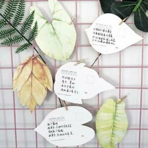Novelty-Leaves-Shape-Postcard-Greeting-Christmas-Birthday-Card-Gift-Cards-Q