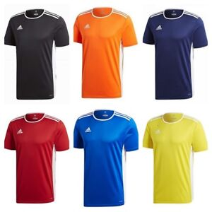 Adidas-Mens-T-Shirt-Entrada-18-Climalite-Football-Sports-Jersey-Top-S-M-L-XL