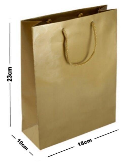 50 MATT LAMINATED GIFT BAGS LUXURY BIRTHDAY PRESENT MEDIUM BAG