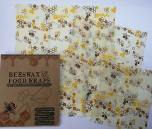 Beeswax-Food-Wraps-Zero-Waste-Biodegradable-Set-of-3-Eco-Friendly-Food-Storage