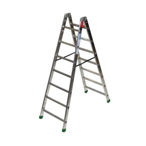 Scala Facal Professional-1 Doppia Salita Gradini 7 Metri 1,90