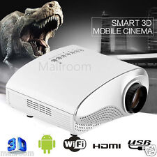 1080P HD LED Home MulitMedia Theater Cinema USB TV VGA SD HDMI Mini Projektor