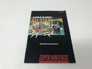 Super-Mario-All-Stars-Super-Nintendo-SNES-Instruction-Manual-Only