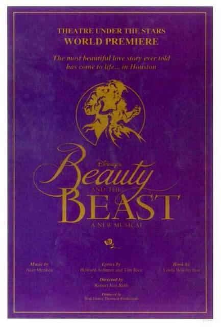 Terrence Mann Beast >> Beauty And The Beast Broadway Movie Poster 11x17 B Terrence Mann Susan Egan