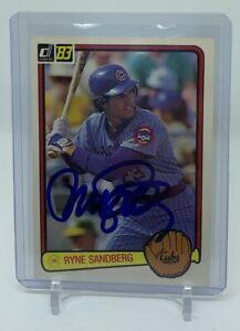Ryne Sandberg Autographed 1983 Donruss Baseball Rookie Card Signed Auto