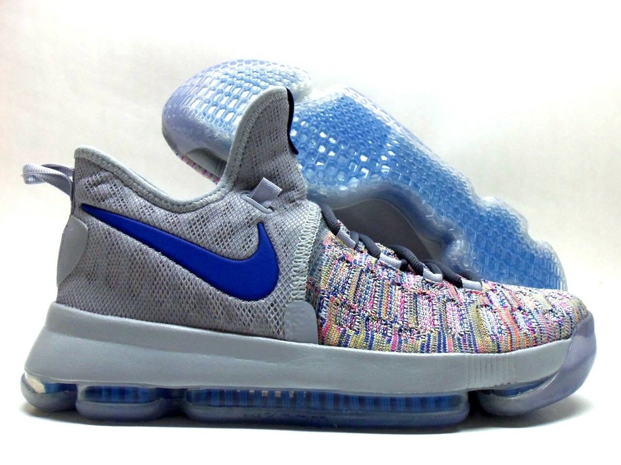 NIKE KD 9 IX ID KEVIN DURANT MULTI-COLOR/COOL GREY SIZE MEN'S 7 [863695-984]