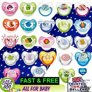 Baby-Dummy-Pacifier-Soother-teat-Colorful-FREE-BPA-Silicone-orthodontic-shape