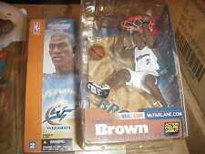 MCFARLANE NBA 2**KWAME BROWN**VARIANT WHITE WIZARDS  JERSEY **QQ