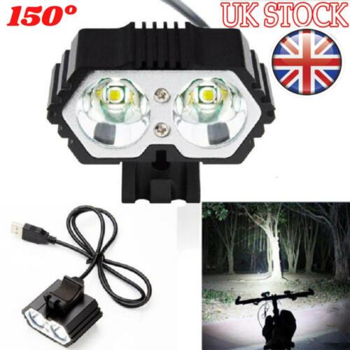 6000LM T6 LED USB Waterproof Bike Bicycle Headlight Light Front Flashlight Lamp