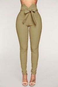 High-Waist-Casual-Pencil-New-Jeggings-Women-039-s-Ladies-Long-Pants-Trousers-Cargo
