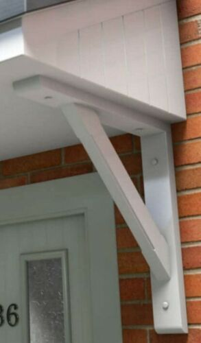 Gallows Bracket Individual 300mm White Plastic Wood Composite
