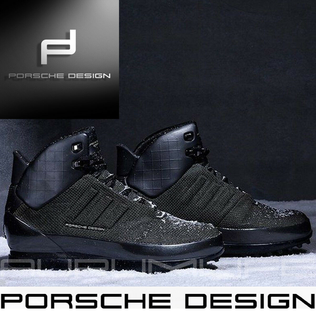 Adidas Porsche Design Zapatos para hombre de invierno Negro Kevlar rebote Tech Bota Negro invierno 9 10. 5 8 af9bc4