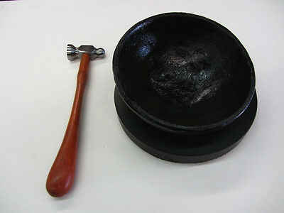 "Ramelson 1"" Jewelry Hammer Jewelry Making Tools & 8"" Cast Iron Pitch Bowl Pad"