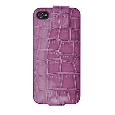 Power iJackit Luxe Charging Case Cover Shell for iPhone 4 / 4S - Crocodile Pink
