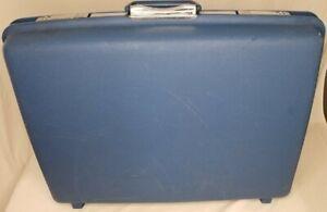 """Vintage Samsonite Saturn II Hard Suit Case Travel Luggage 24""""x19""""x7"""" Mid-century"""