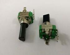 2 x 9mm Alpha B100K 10K Linear Taper Potentiometer 18mm D Shaft W. Center Dent