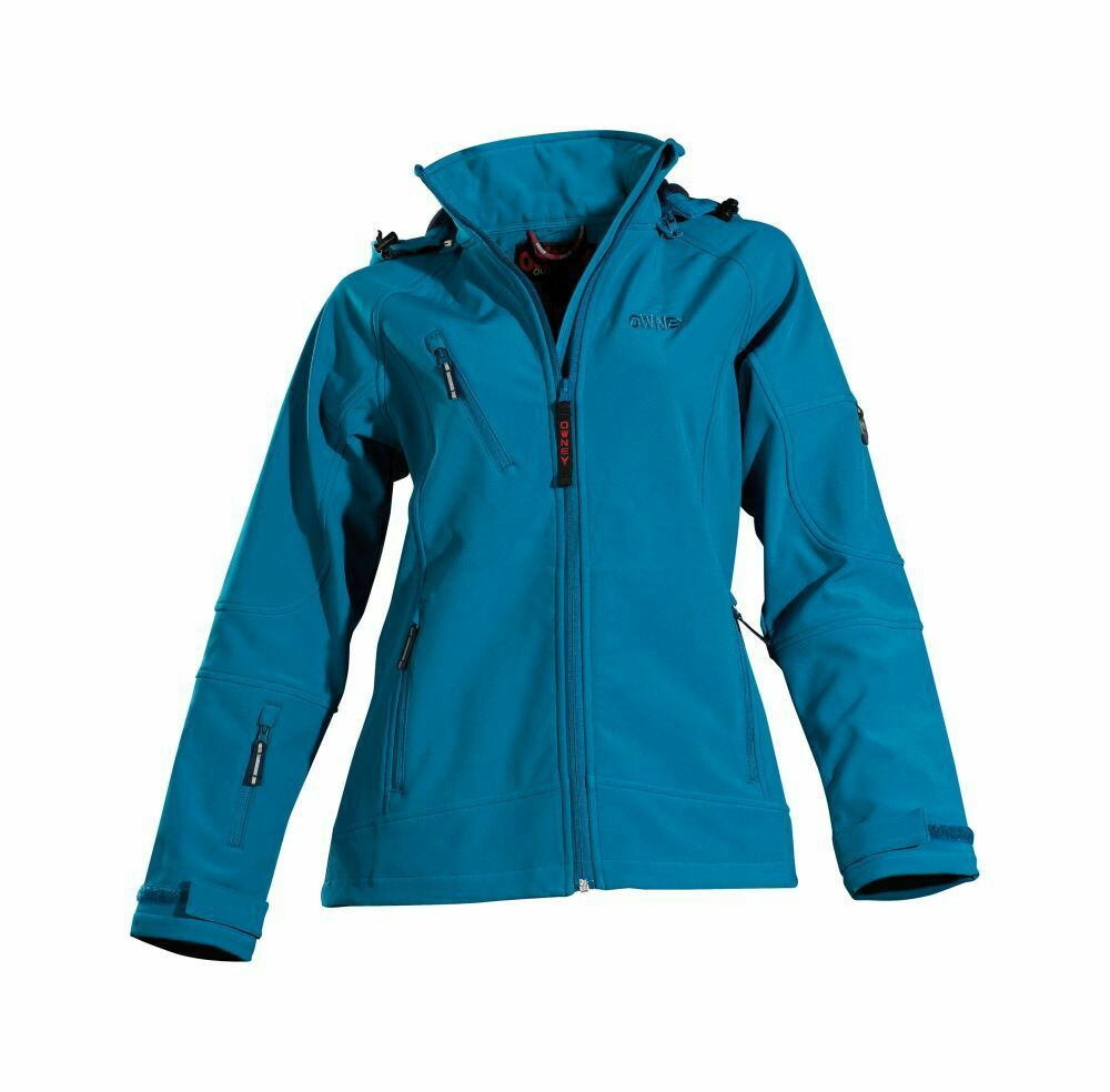 Owney all'aperto Softshell Giacca Donna AME Hood donne Giacca sportiva Petrol
