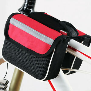 Mountain-Bike-Bicycle-Double-Pannier-Front-Frame-Tube-Bag-Holder-Phone-Case